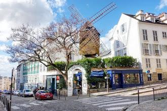 Paris : Le Moulin de la Galette, histoire de la plus célèbre guinguette de Montmartre, légende des Moulins Radet et Blute-fin - XVIIIème