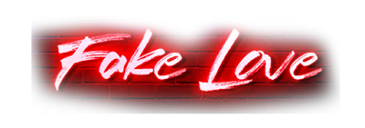 Fake love text png,Fake love neon text png