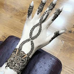 simple finger mehndi designs