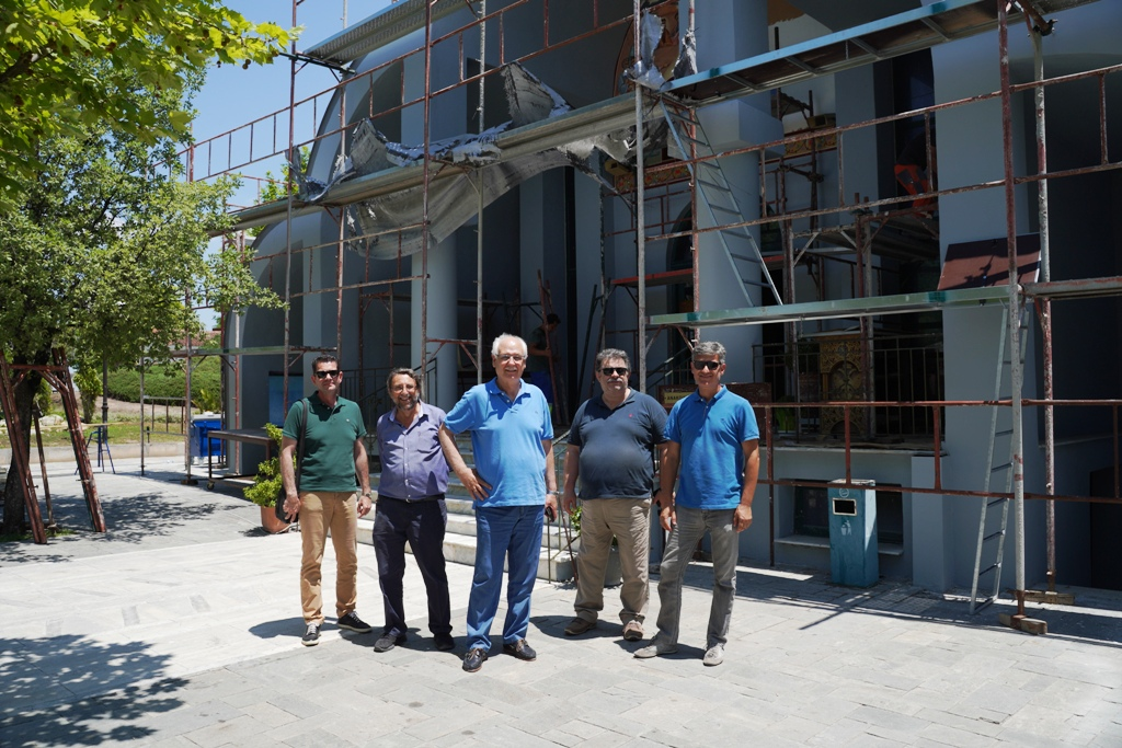 Αυτοψία του δημάρχου Απόστολου Καλογιάννη σε υπό εξέλιξη έργα του Δήμου Λαρισαίων (ΦΩΤΟ)