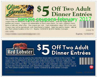 Olive Garden coupons for february 2017