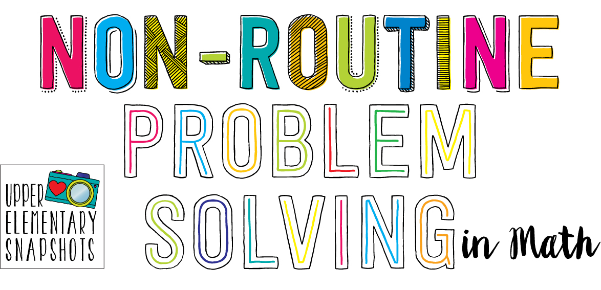 Non routine problem solving examples | 吉祥寺北口システム.