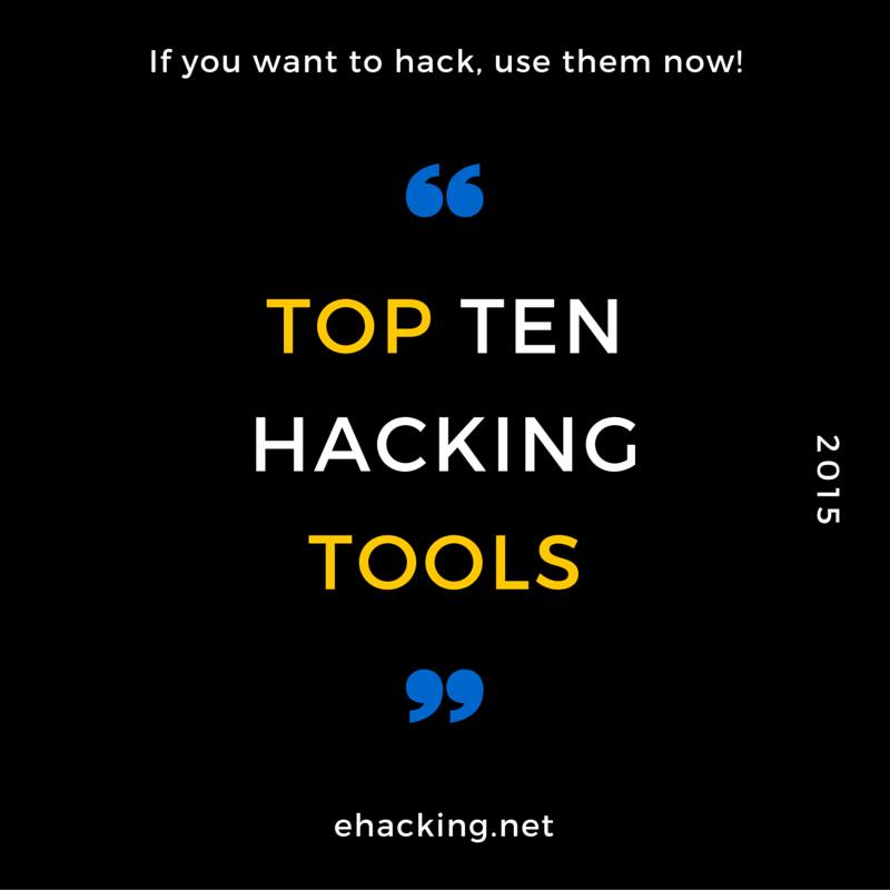 Top 10 Hacking Tools of 2015