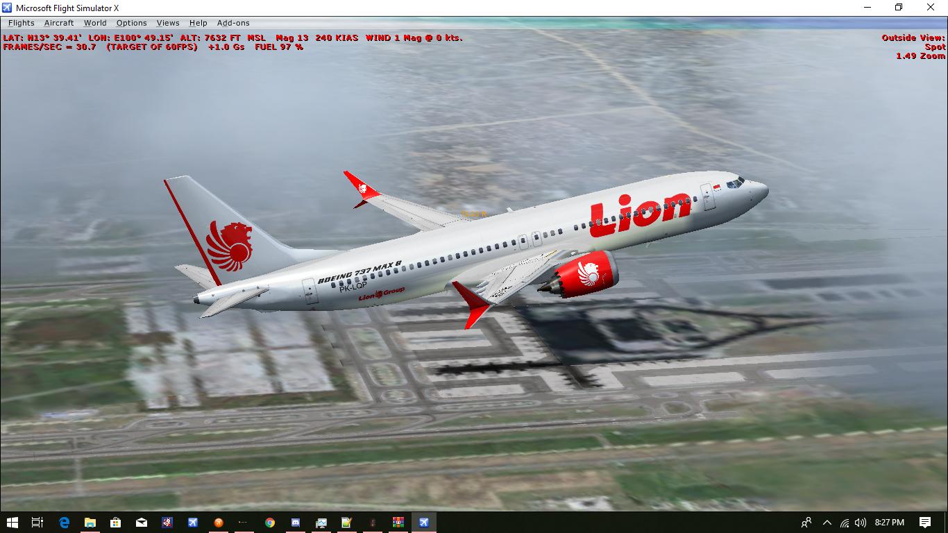 Lion Air Boeing 737 Max 8 PK-LQP Texture ~ Wahdhan Hadi