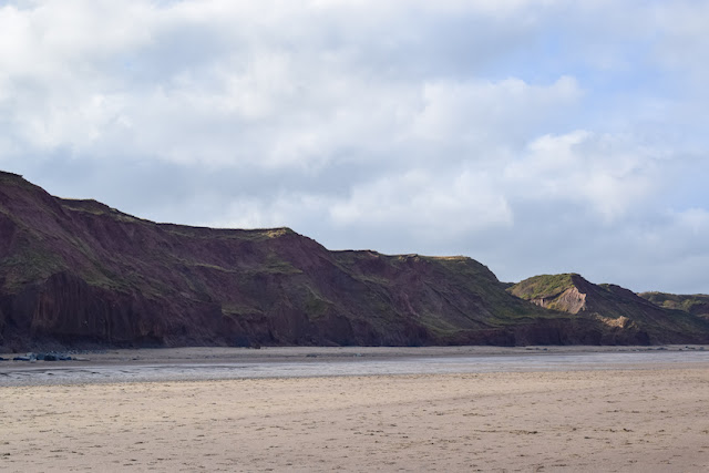 Walking Whitby to Sandsend - cliffs along the beach