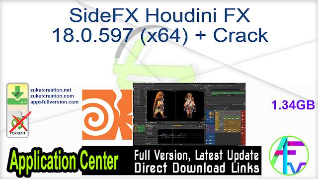SideFX Houdini FX 18.0.597 (x64) + Crack