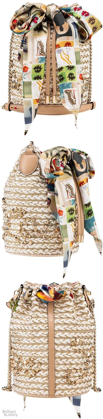 Brilliant Luxury♦Christian Louboutin Marie Jane bucket bag