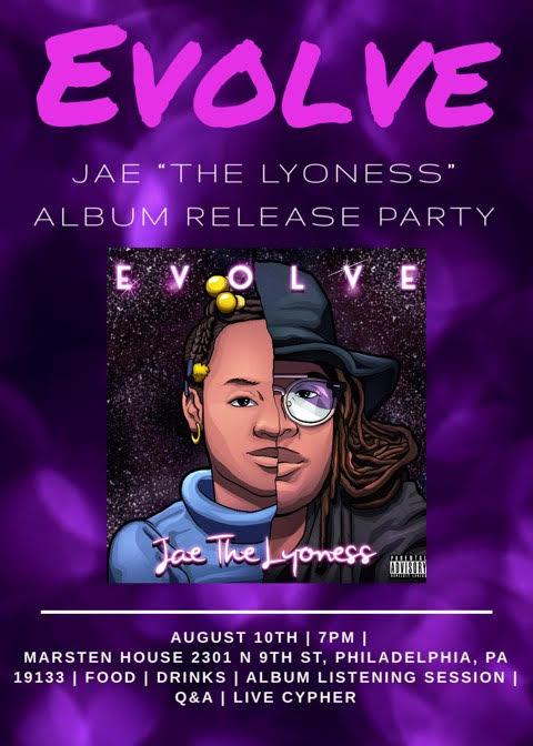 Jae 'The Lyoness' Presents 'Evolve' Album Release Party