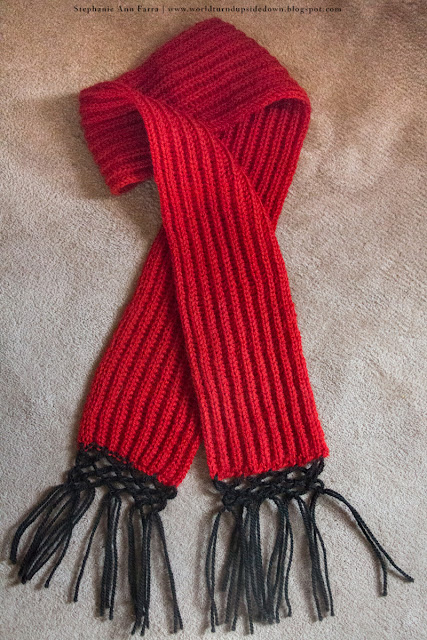 Civil War Scarf Pattern- Easy- World Turn'd Upside Down