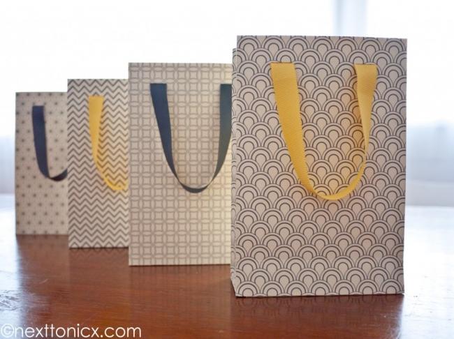 Bolsas para regalos imprimibles.