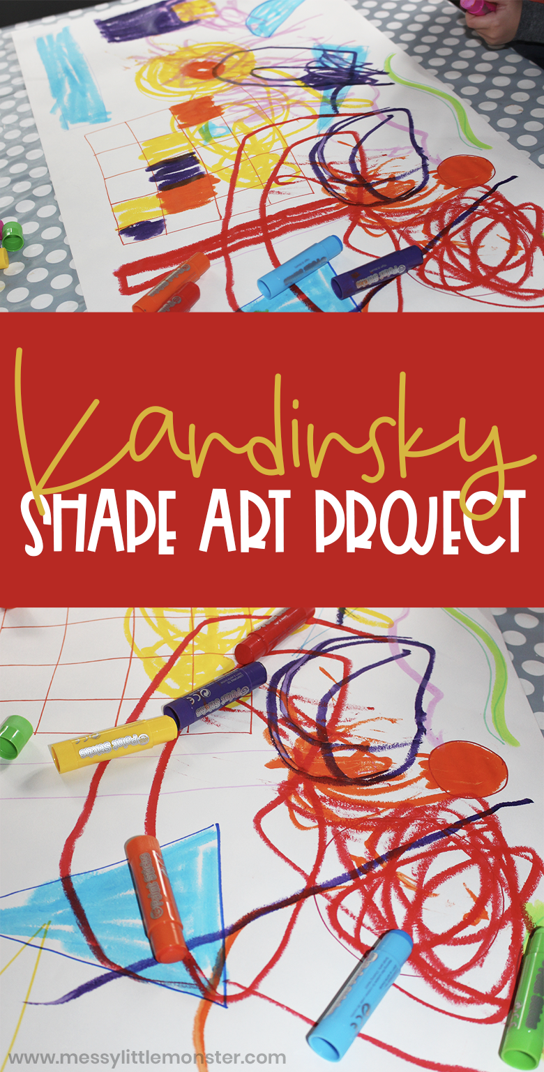 Kandinsky for kids. Shape art for kids. Process art for toddlers and preschoolers.