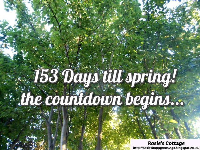 Countdown to spring has started today...