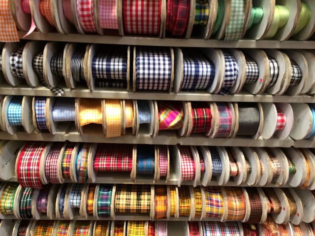 preppy gingham ribbon trim garment district nyc m j trimming