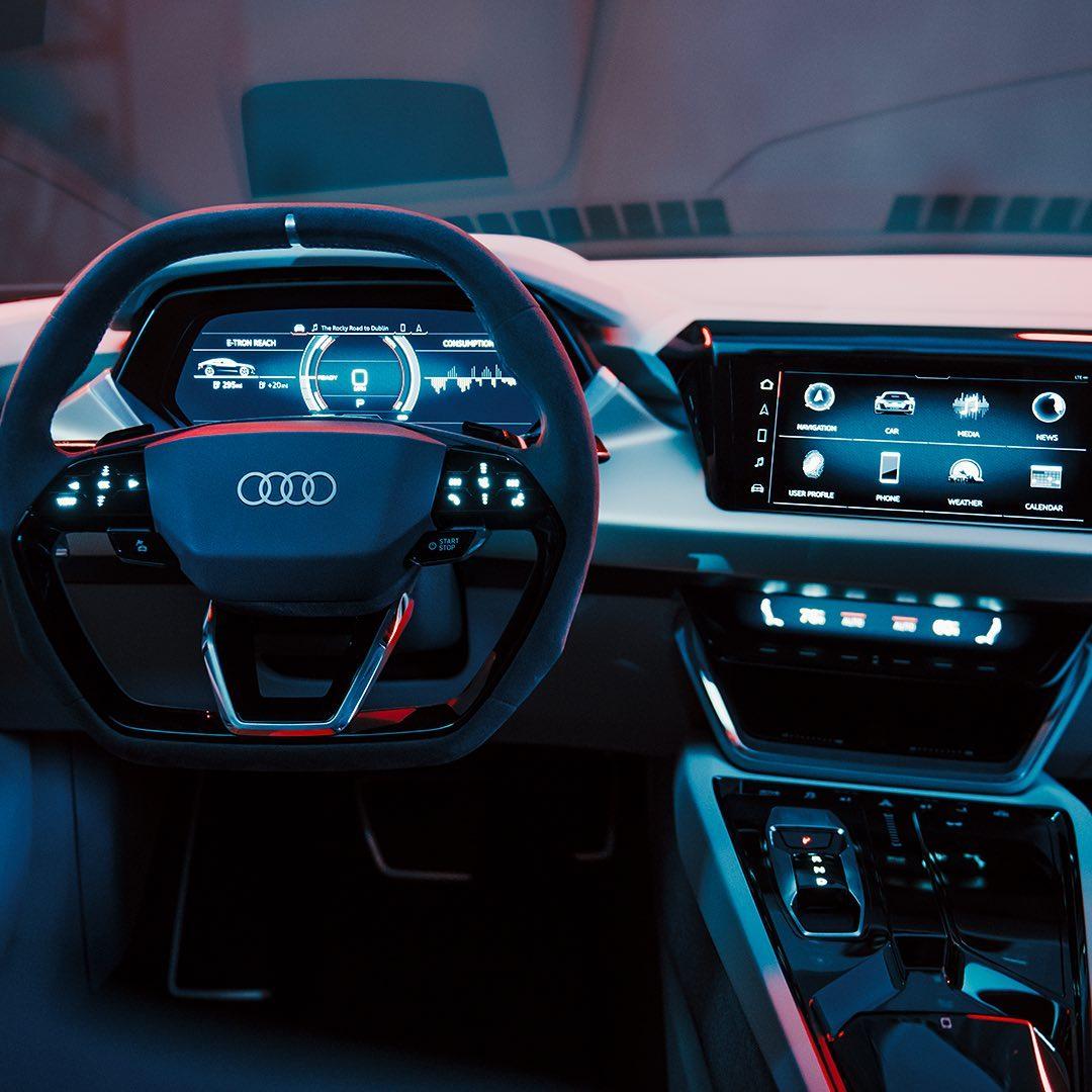 Interior Konsep Mobil Listrik Audi E-Tron GT Dirilis Gila