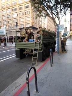 Army Truck in LA Demonstrations