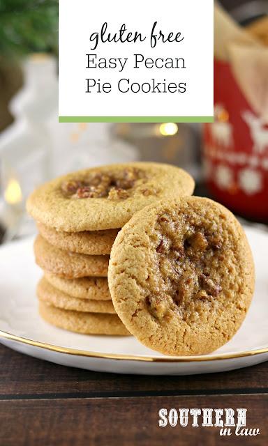 Easy Pecan Pie Cookies Recipe - Gluten Free Pecan Pie Cookies Recipe for Christmas, Thanksgiving, Easy Dessert Recipes, Christmas Cookie Swap Recipe