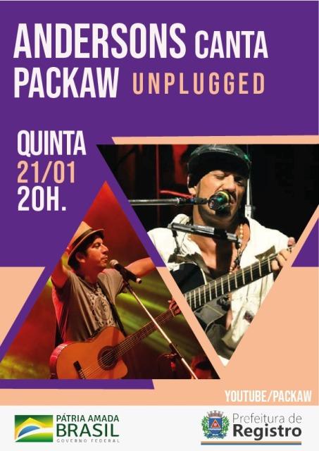 Andersons Canta Packaw Unplugged será no dia 21/01