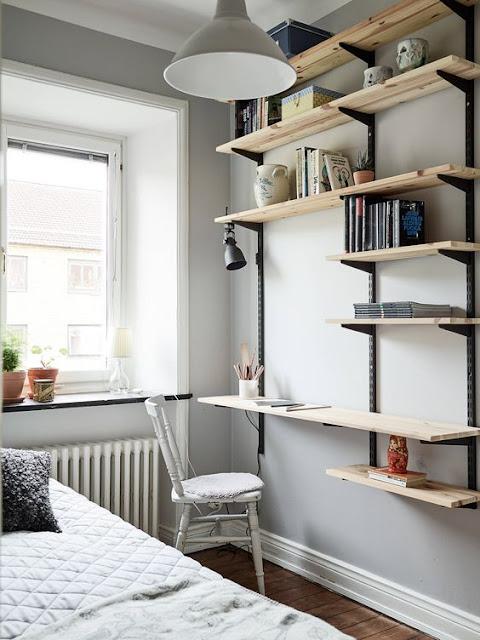 la fabrique d co id es pour installer un mini bureau la maison. Black Bedroom Furniture Sets. Home Design Ideas
