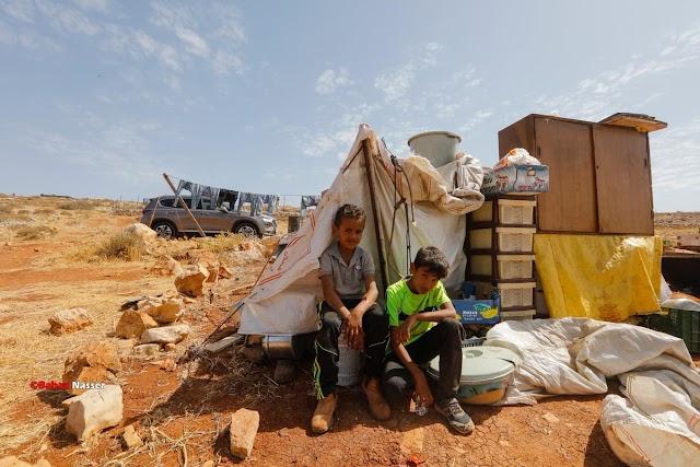 الاحتلال يهدم خياماً سكنية لتجمّع بدوي شرق رام الله ويشق طريقاً عسكرياً في أراضي حزما
