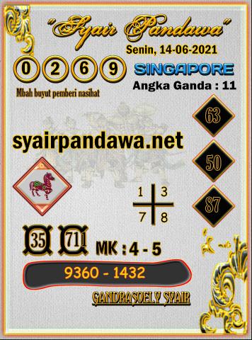 Gambar Syair Pandawa Sgp senin 14 juni 2021