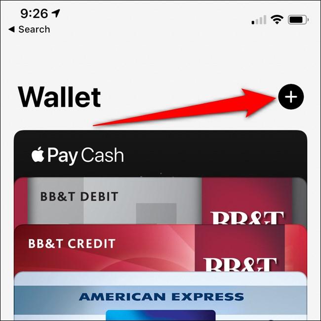 اي فون أبل المحفظة إضافة زر بطاقة