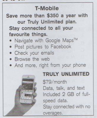 advertisement text example