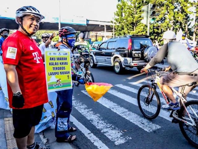 Yana Mulyana Dukung Kampanye Bersepeda Tertib Berlalu Lintas dan Peduli Protokol Kesehatan