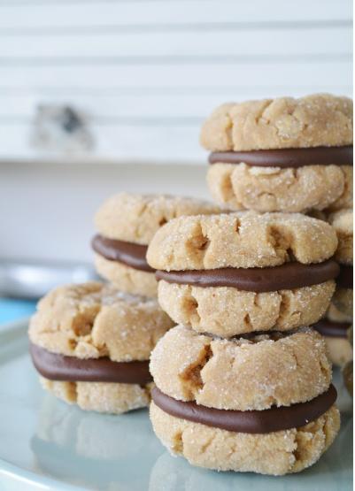 Peanut Butter Ganache Cookie Sandwiches