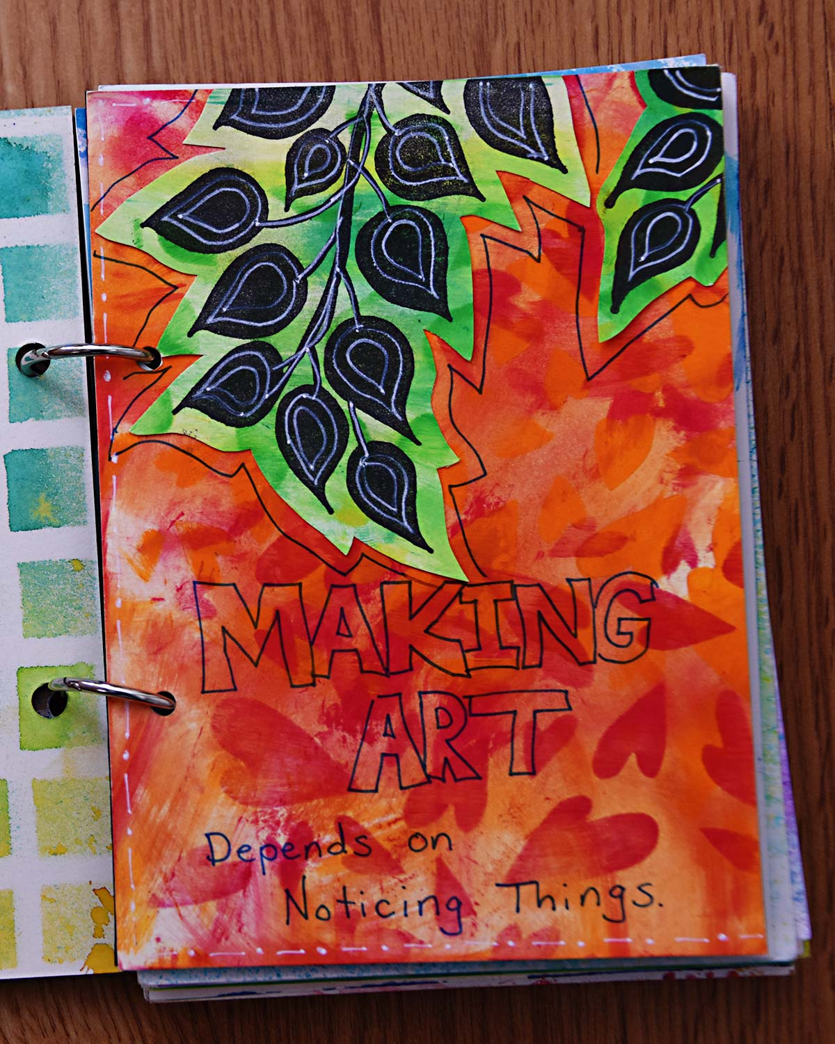 Mixed Media Art Journal Quote