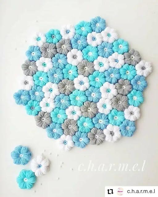Tutorial Express Flor Puff a Crochet