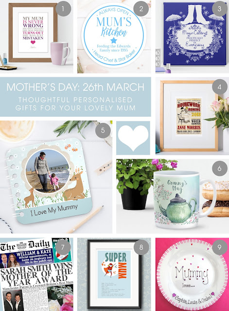 personalised handmade gifts for mother's day