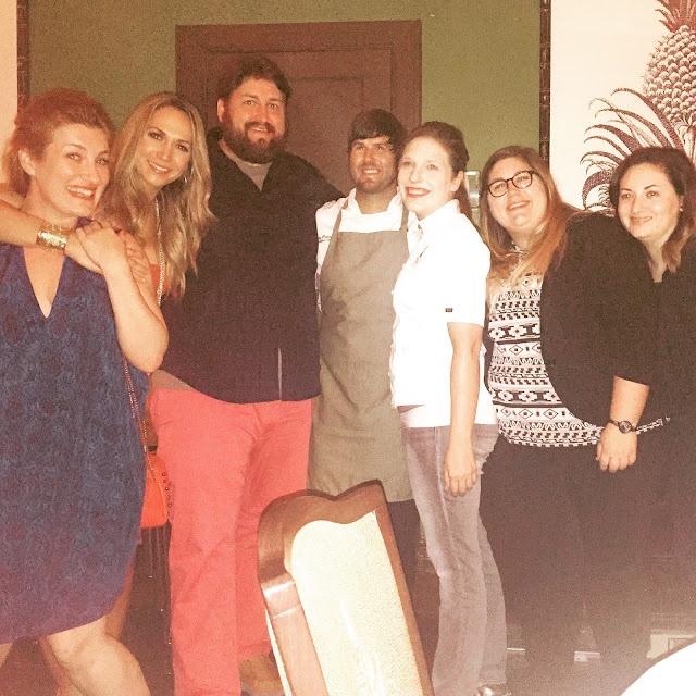 Piper, Liz, Jay, Cody, Sam, Blair and Sydney pose after the dinner at the James Beard House