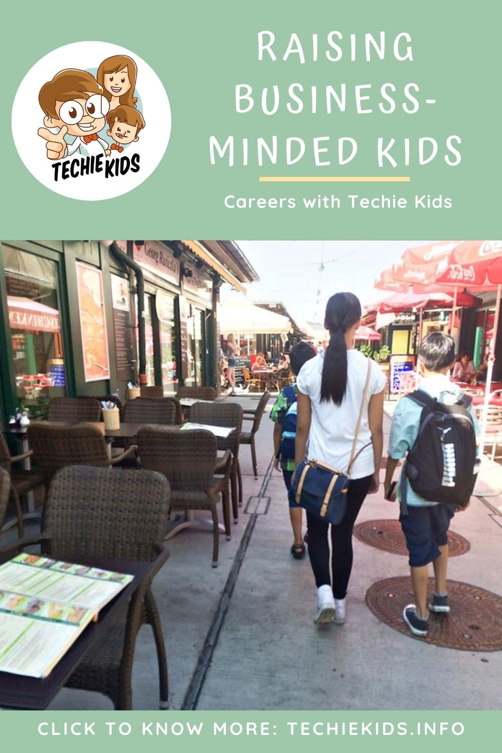 Business-Minded Kids, kids walking