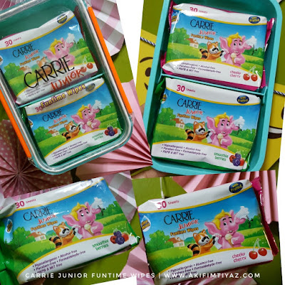 Carrie Junior Funtime Wipes , Carrie Junior, Tisu Basah Carrie Junior