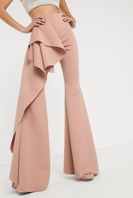 Pink Ruffle Trousers