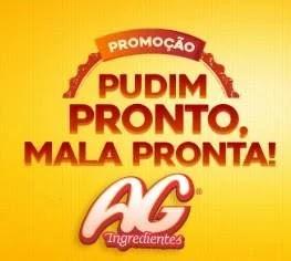 Cadastrar Promoção AG Pudim Pronto, Mala Pronta - AG Ingredientes 2019 Viagem