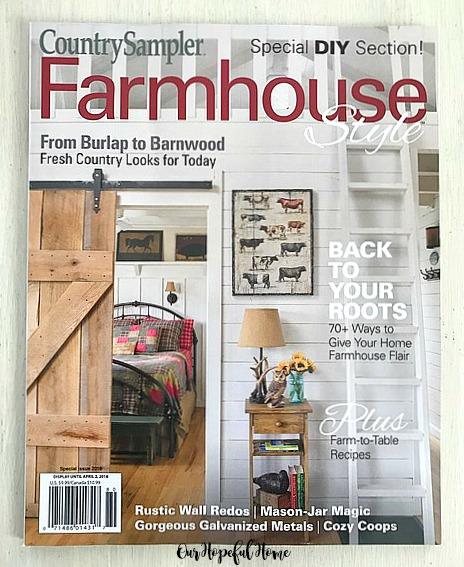 Country Sampler Magazine Farmhouse Style 2018