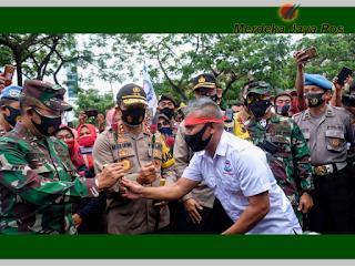 Demo Tolak UU Cipta Kerja Di DPRD Jateng Tadi Jadi Rolemodel Bagi Daerah Lain
