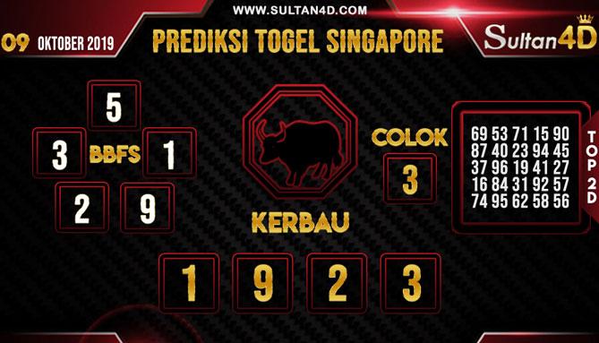 PREDIKSI TOGEL SINGAPORE SULTAN4D 09 OKTOBER 2019