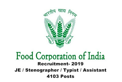 The online Application link for recruitment in various posts under Food Corporation of India is activated now