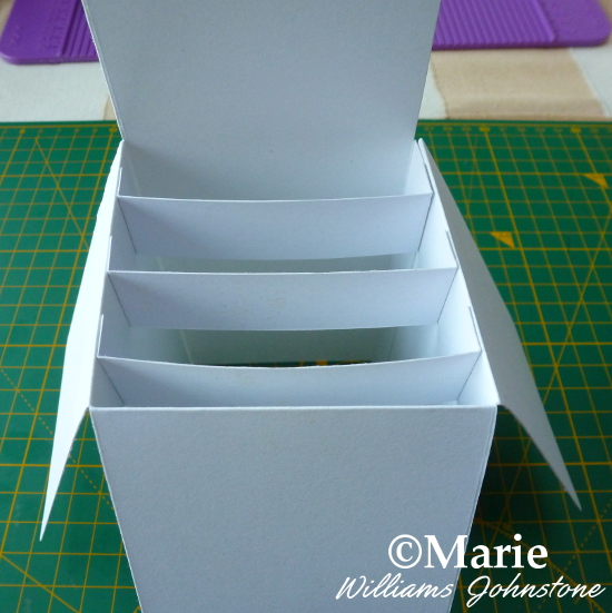 Adding the inserts inside the pop up box card