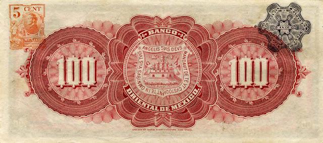 mexican billetes 100 Pesos