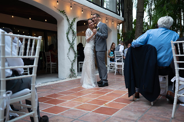 First dance at Reception The Manor on St Lucie Crescent Wedding captured by Stuart Wedding Photographer Heather Houghton Photography