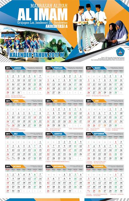 Kalender 2017 MA Al Imam, Bondowoso