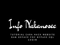 Tutorial Cara Hack Website dan Deface POC Bypass SQL Login