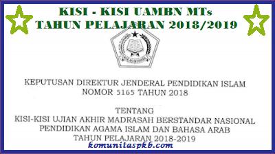 Kisi - Kisi UAMBN Untuk MTs Tahun Ajaran 2018/2019