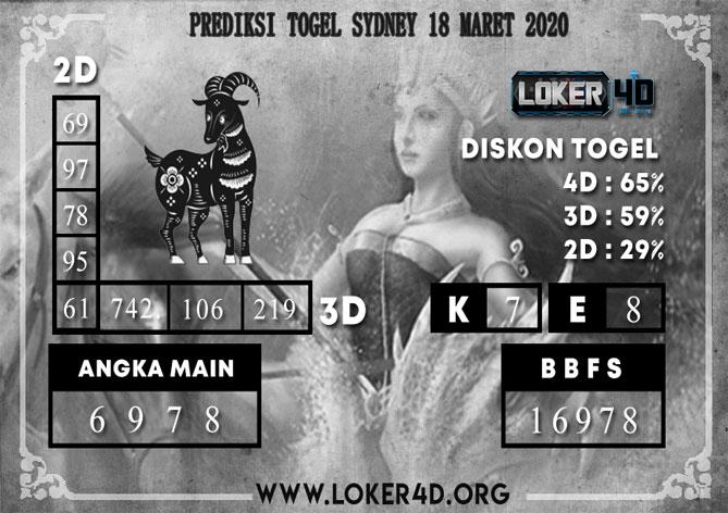 PREDIKSI TOGEL SYDNEY LOKER4D 18 MARET 2020