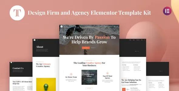 Best Design Firm & Agency Elementor Template Kit
