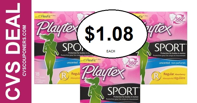 Playtex Tampons CVS Deal $1.08 - 7/21-7/27