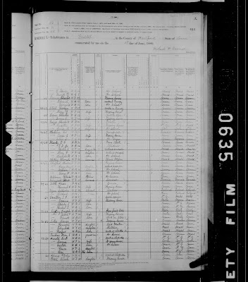 1880 Census, Bristol CT shows entry for Arnold family